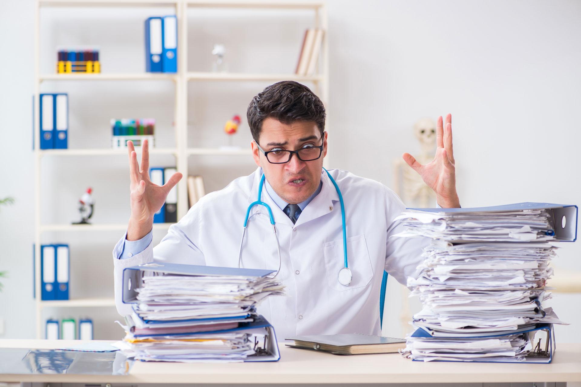 doctor paperwork burnout